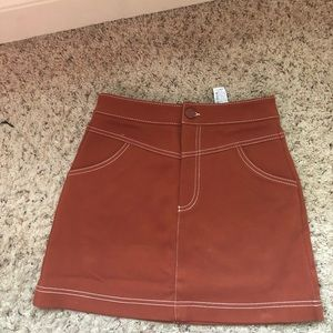 Zara Terra-cotta Skirt